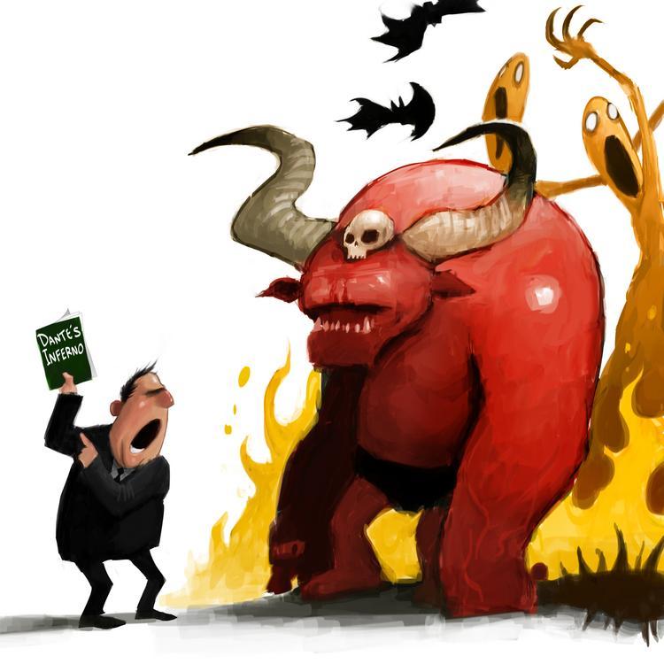 Dante's Inferno by cvelarde