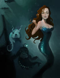 Mermaid by cvelarde
