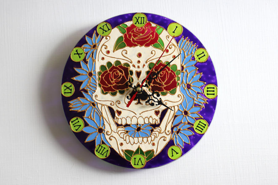 Sugar Skull Clock by overcover