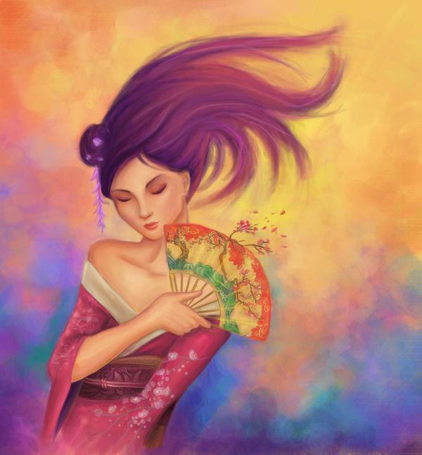 Geisha by shadowpaintedwhite