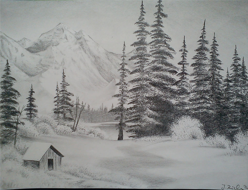 Drawing landscapes for beginners easy landscape drawing drawing - Snow Landscape By Bellchen87 On Deviantart