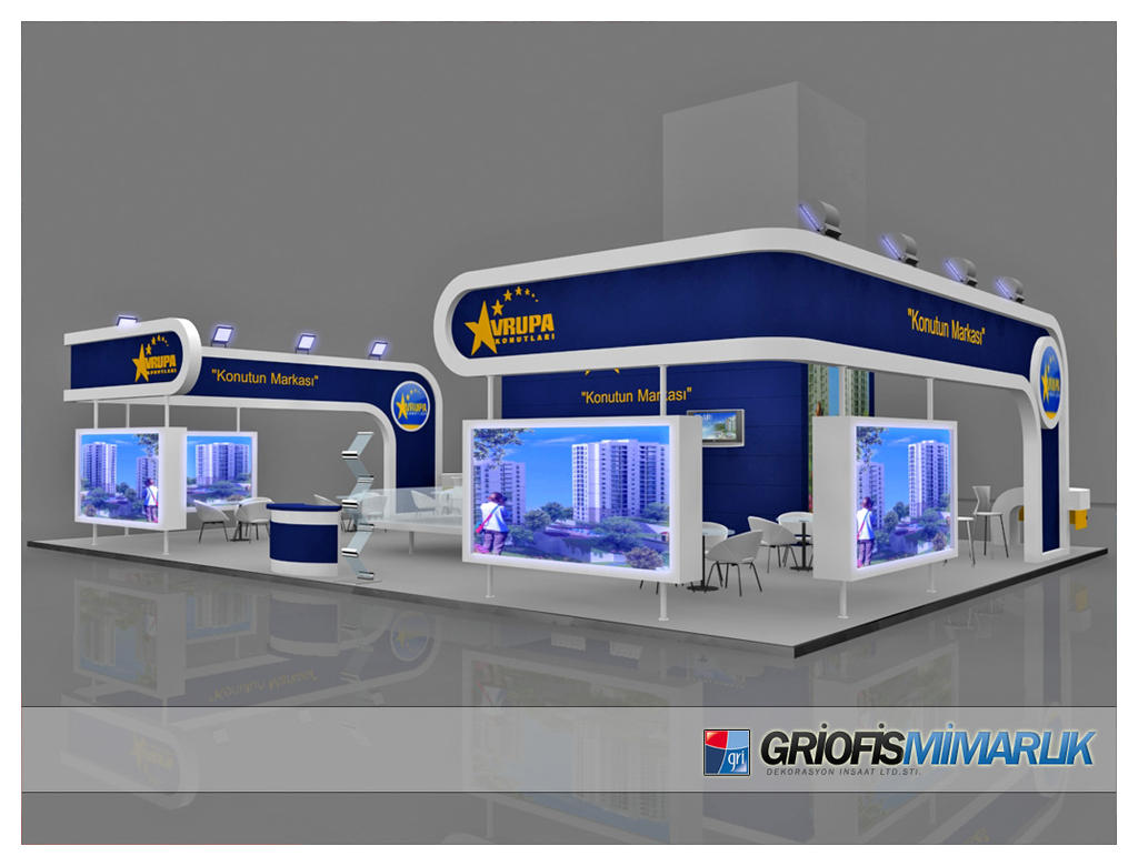 3d Exhibition Stand Design Free Download : Avrupa konutlari exhibition stand design d by