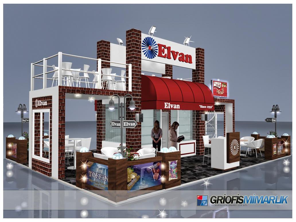 Exhibition Stand Etiquette : Elvan gida exhibition stand design d by griofismimarlik