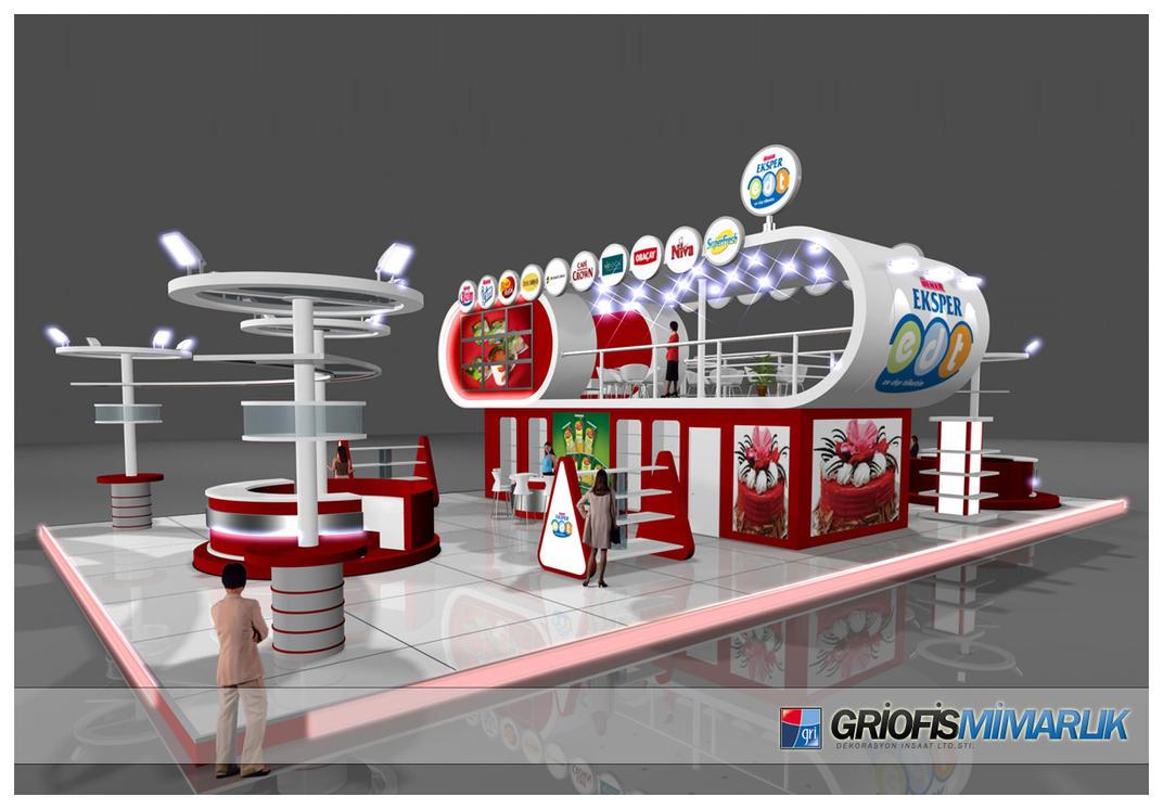 Exhibition Stand Etiquette : Ulker eksper exhibition stand d by griofismimarlik on