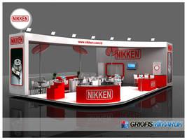 NIKKEN Exhibition Stand 3D by GriofisMimarlik