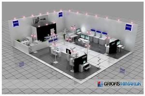 Carl Zeiss Exhibition Stand 3D by GriofisMimarlik