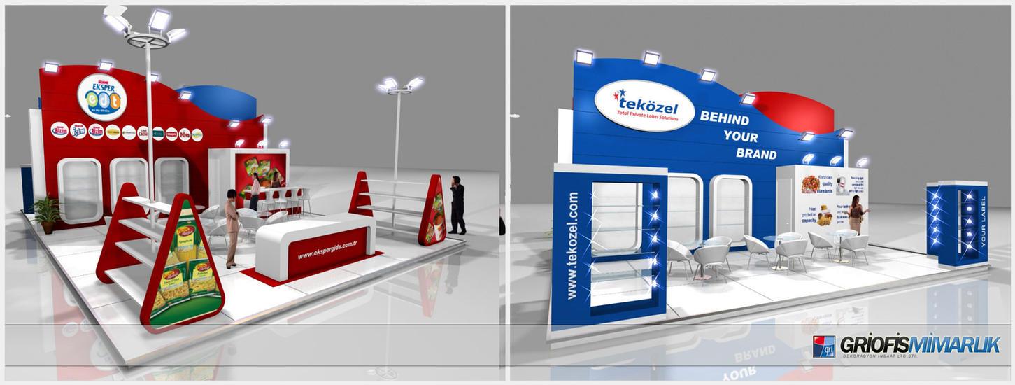 Exhibition Stand Etiquette : Ulker tekozel exhibition stand d by griofismimarlik on