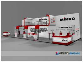 MIKRO Exhibition stand 3D by GriofisMimarlik