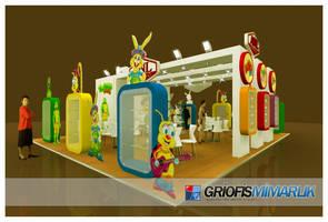ANL GIDA Exhibition Stand 3D by GriofisMimarlik