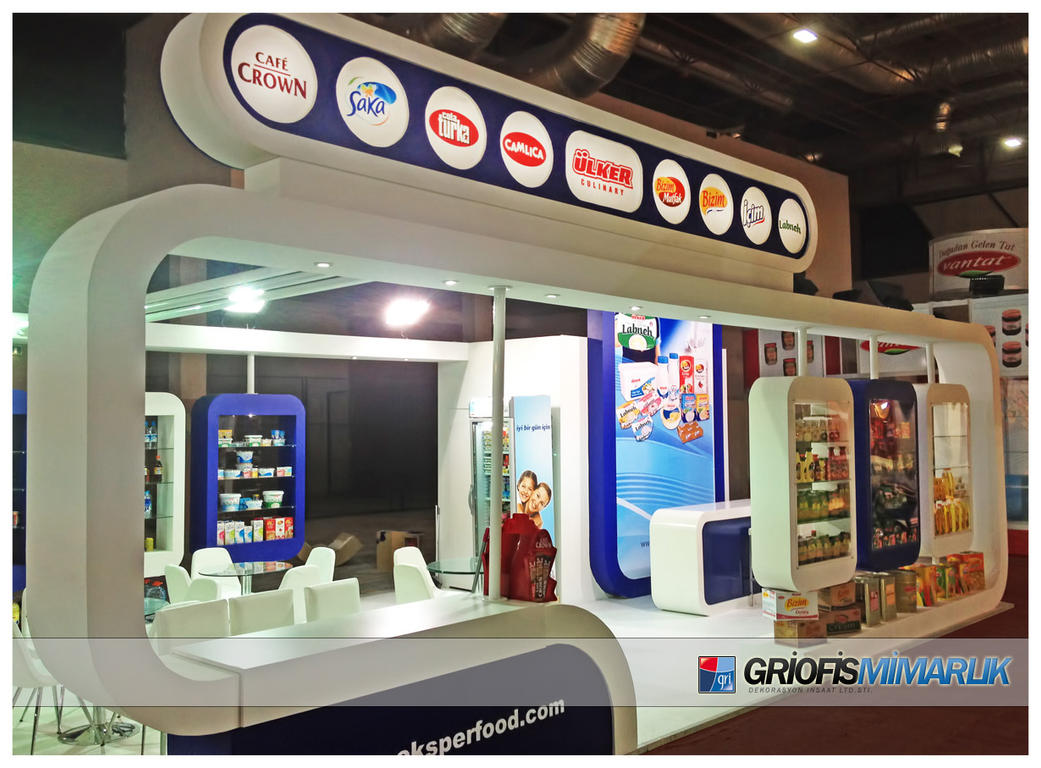 Exhibition Stand Etiquette : Ulker foodproduct exhibition stand photo by