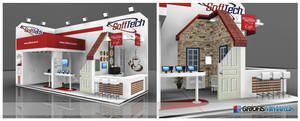 Softtech Exhibition Stand Design 3d by GriofisMimarlik