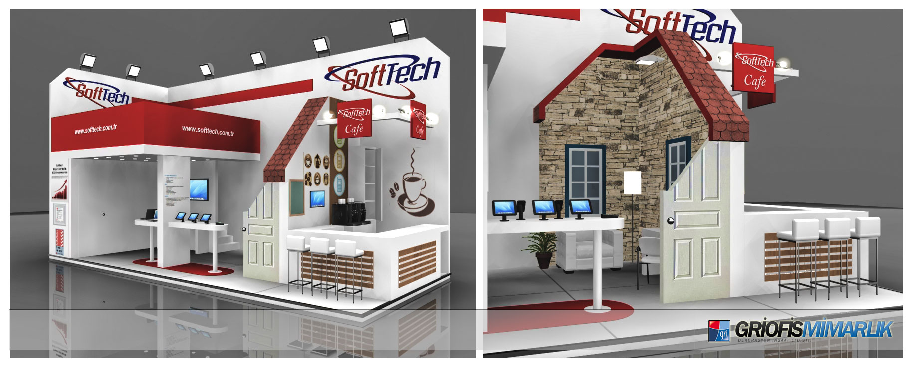 Softtech exhibition stand design 3d by griofismimarlik on for Maquette stand