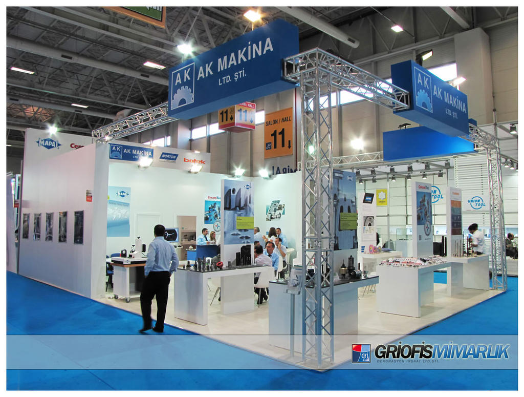 Exhibition Stand Etiquette : Akmakina exhibition stand photo by griofismimarlik on