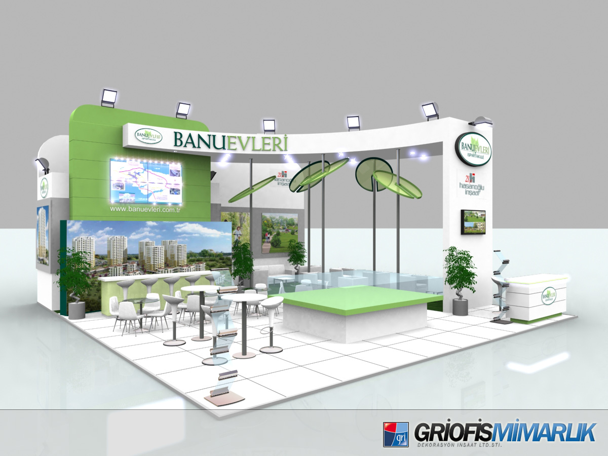 3d Exhibition Design : Banu evleri exhibition stand design d by griofismimarlik