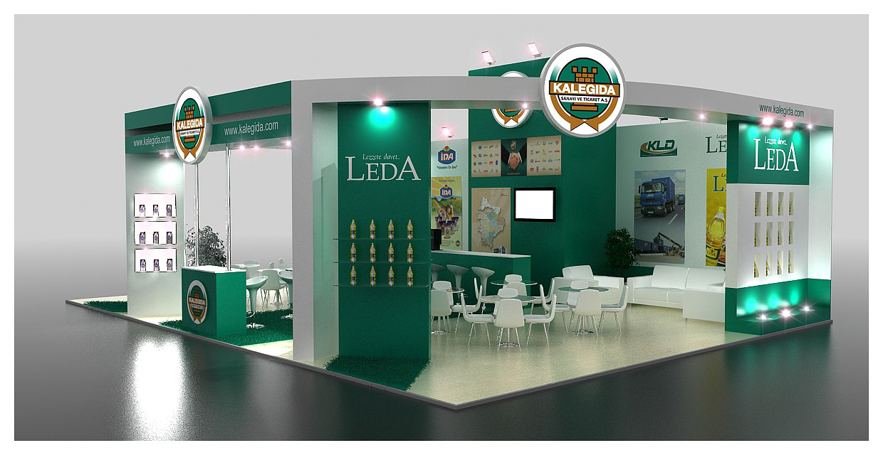3d Exhibition Design : Kale gida exhibition stand design d by griofismimarlik on
