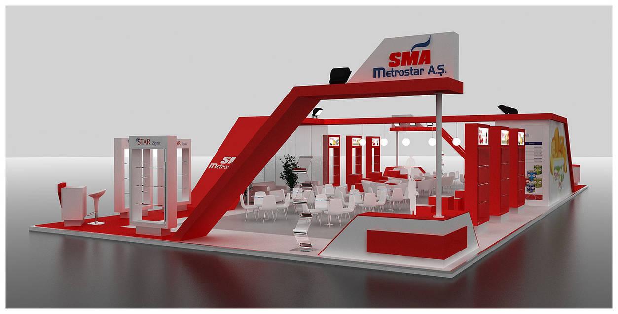 SMA Exhibition Stand Design 3D by GriofisMimarlik