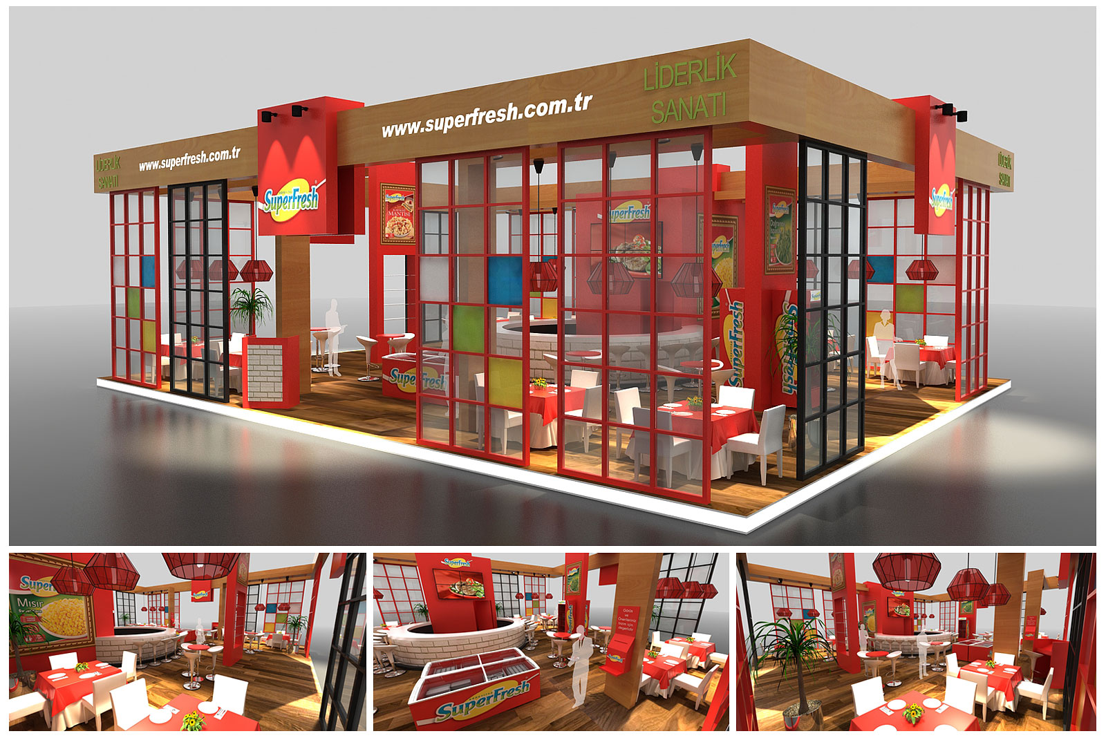 Superfresh Exhibition Stand Design EXPO EDT 2015