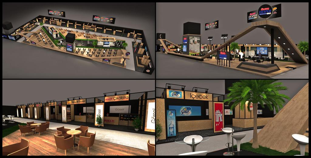 Free 3d Exhibition Stand Design : Ulker eksper exhibition stand design d by griofismimarlik