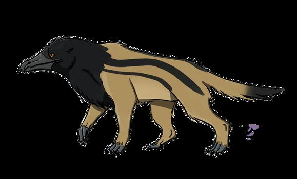 Crow-billed dog (monotreme predator)