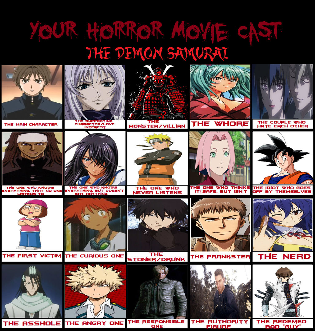 The demon samurai, My Horror Movie Cast Meme by Caseyz199025