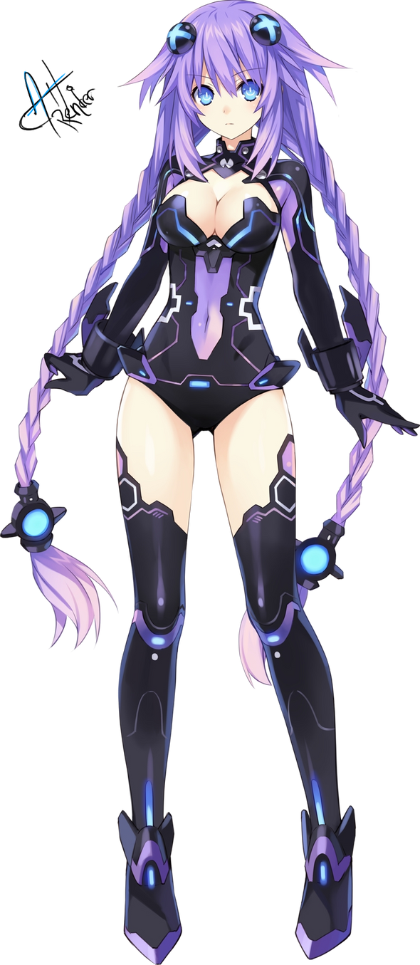 Purple Heart Render by Aoi-Heart