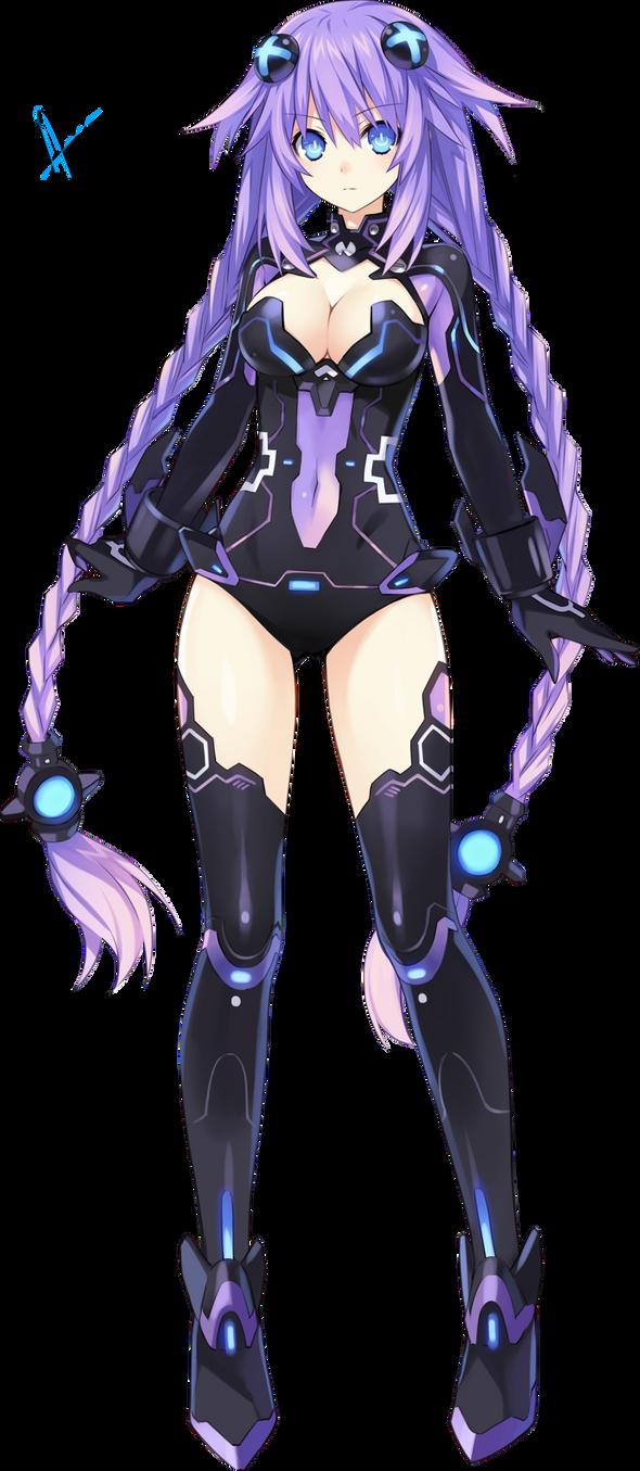 Purple Heart Render by Aoi-Heart