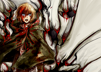 Armin in The Blood smudge by Aoi-Heart