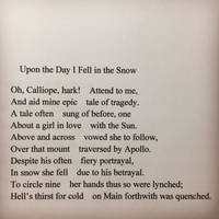Upon the Day I Fell in the Snow