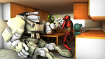 Just a kitchen.. WITH ROBOTS