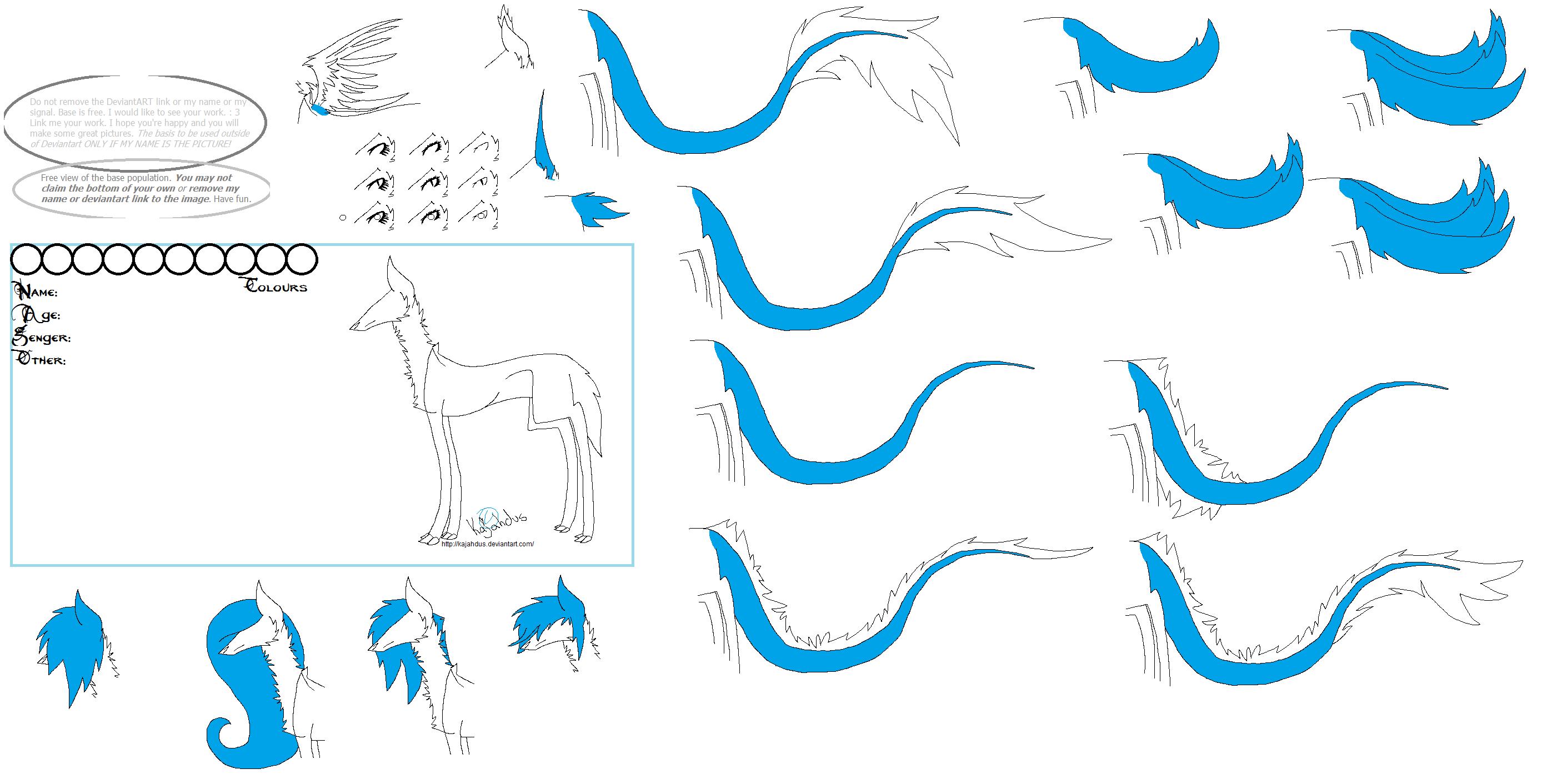 MS Paint Friendly Free Wolf Base By Kajahdus On DeviantArt