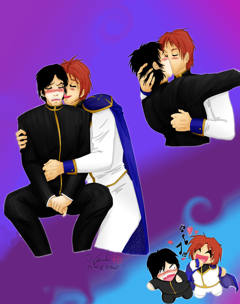 Zuko x Kenji lovesheet - colored by Zakuro-Kona
