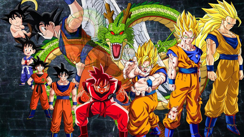 Imagen De Goku Kakaroto Normal Fase 1 Fase Dos Fase 3 Fase: Goku Transformations By Firebladenatjox On DeviantArt