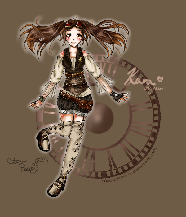 SteamPunk OC-Kara Oakland WIP by whitty-boo