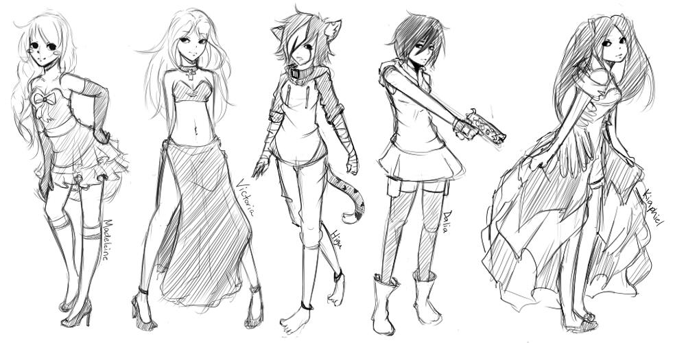 Что такое скетч аниме рисунки