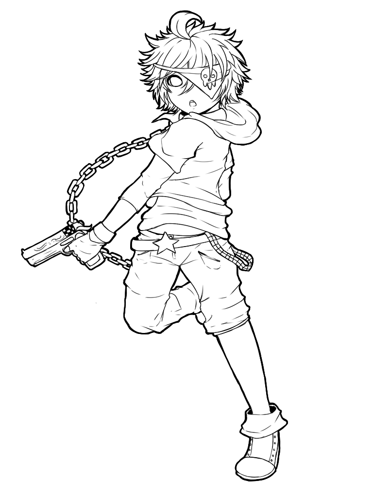 Lineart Anime Boy : Cael boy lineart by whitty boo on deviantart
