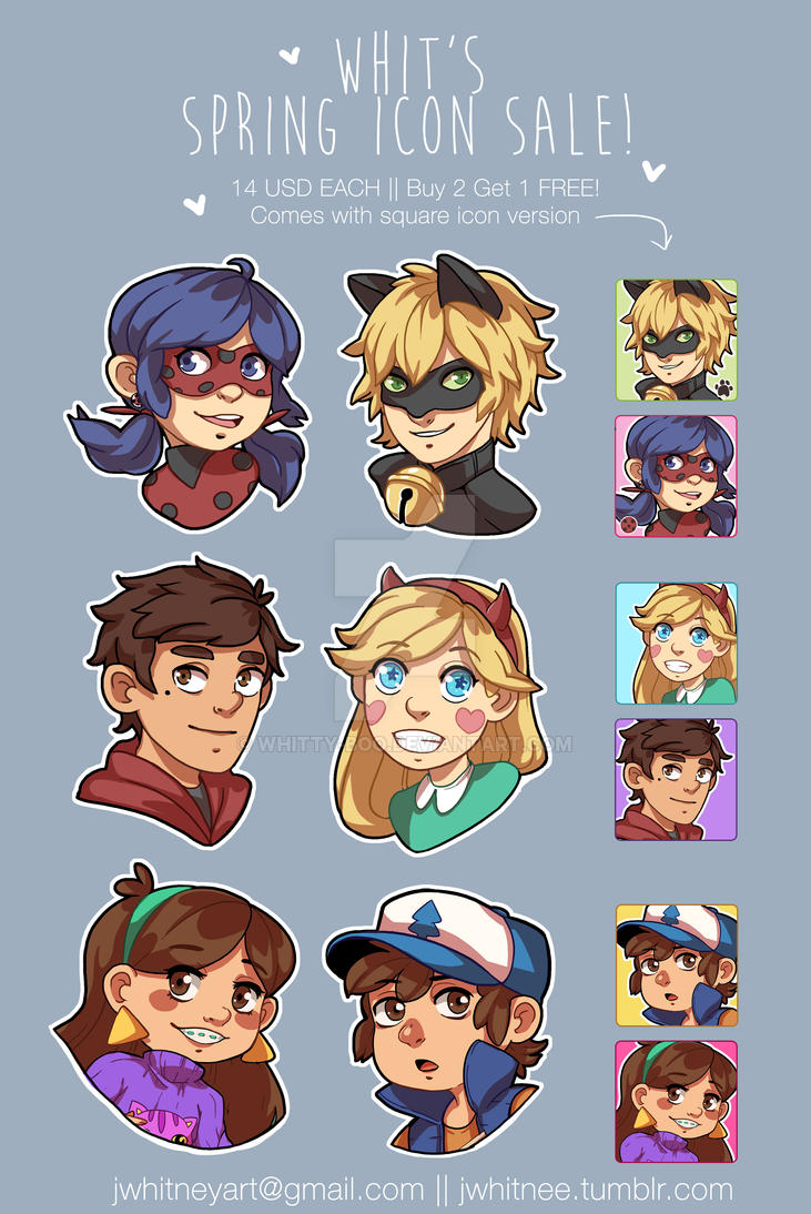 Emergency Icon Commissions! by whitty-boo