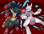 Mega Lucario vs Mega Mewtwo X