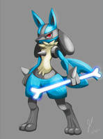 Lucario Painting by ZeroX908