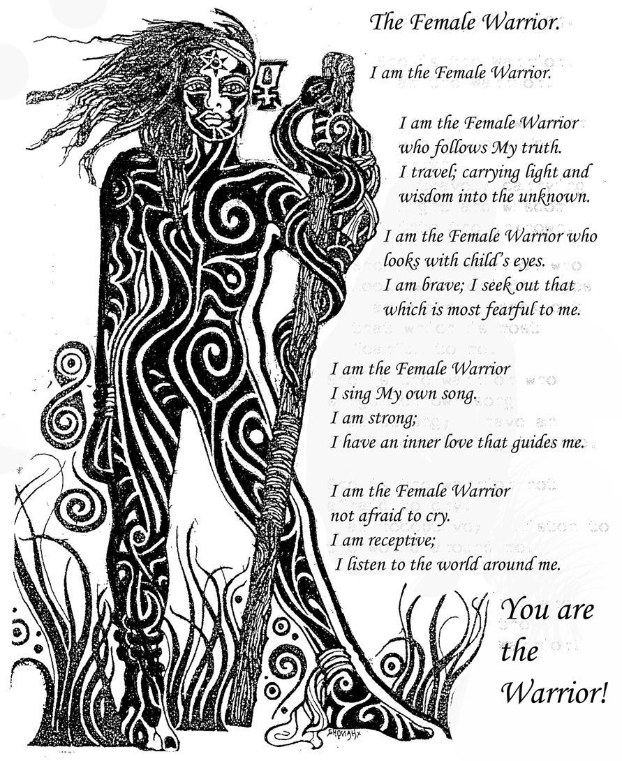 The female Warrior by lunar-polarity