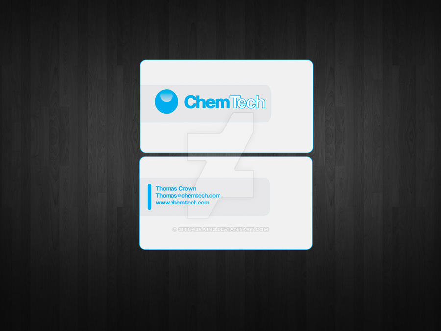 Chem Tech Business Card Front and Back by Sith4Brains on DeviantArt