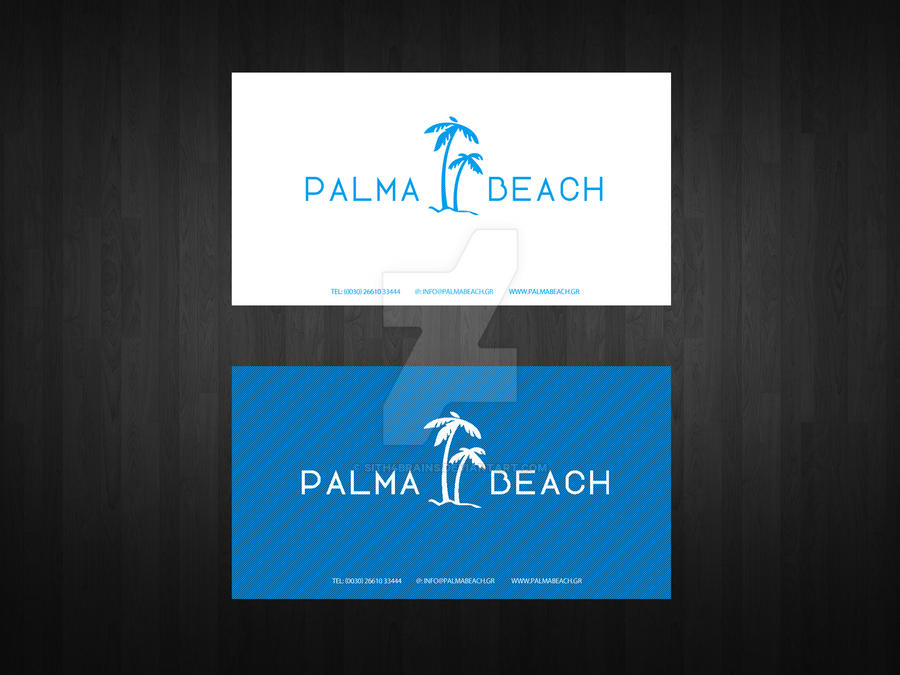 Palma Beach Business Card Front and Back by Sith4Brains on DeviantArt
