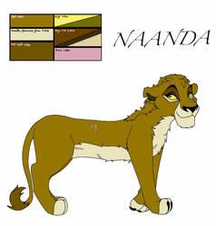 Naanda ref sheet by LillyO321