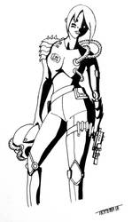 Cyberpunk Bounty Hunter by Tryphina