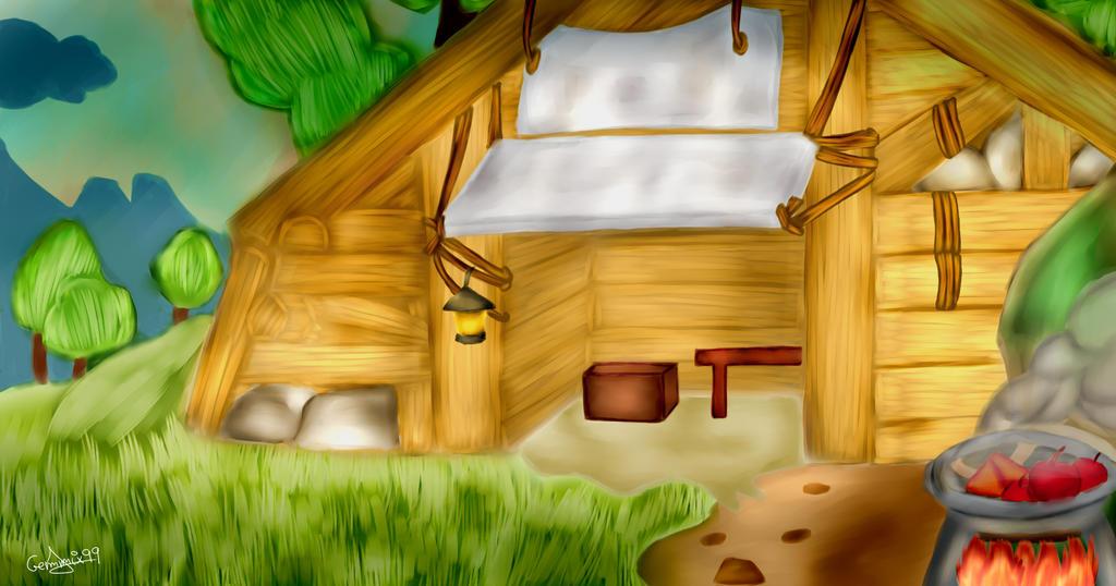 La casa del anciano (Zelda Breath Of The Wild) by gemmix99