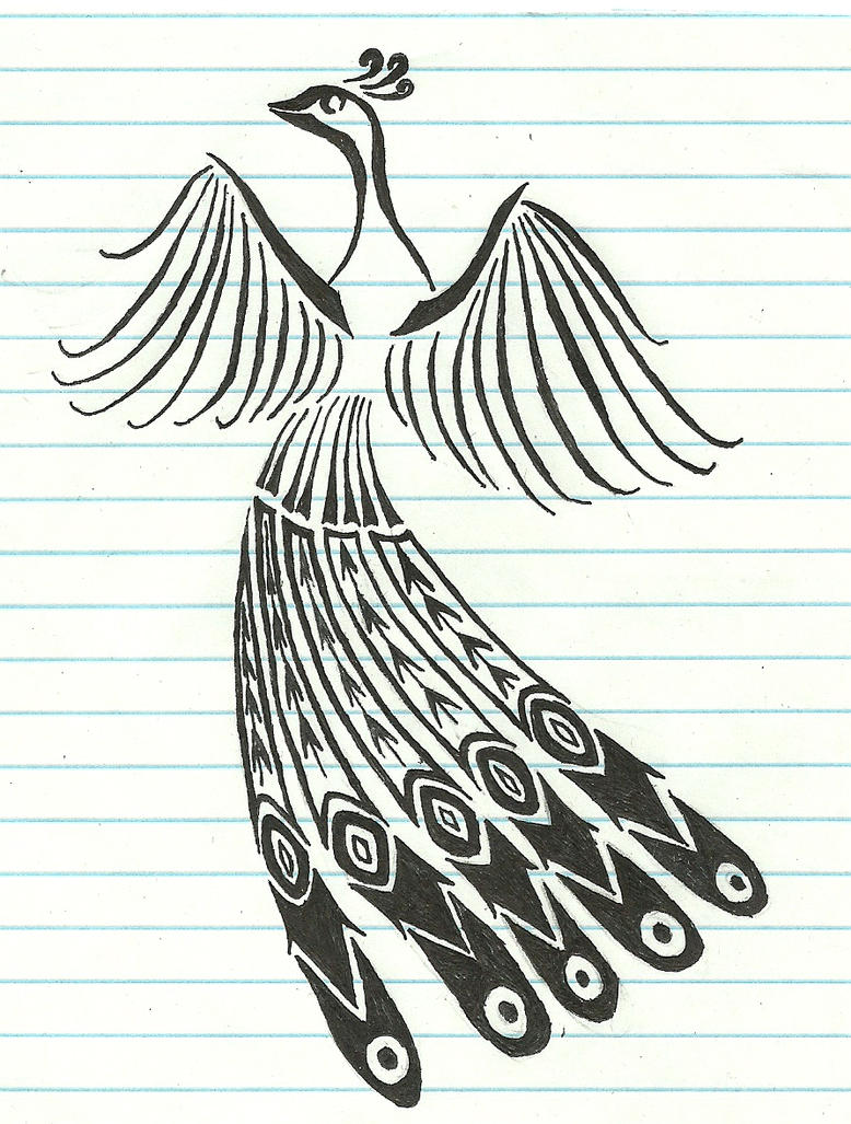 Tribal Peacock Tattoo Design Picture 4