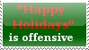 """""""Happy Holidays"""" Stamp by StoryMaker91"""