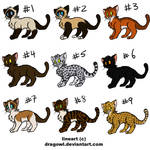 Cat Point Adoptables by StoryMaker91