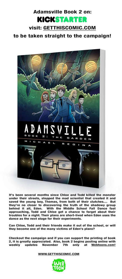 Adamsville Book 2 on Kickstarer by mregina