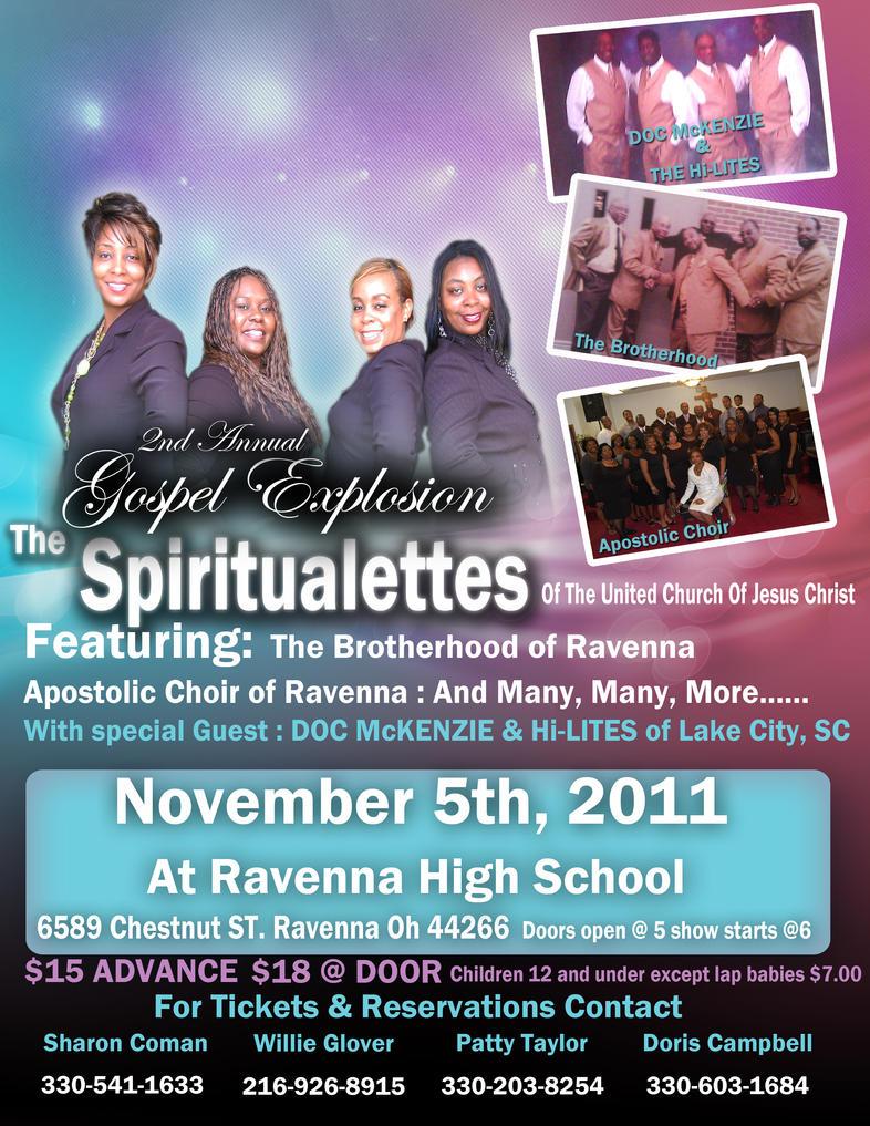 Spiritualettes Gospel concert flyer by wind27382 on DeviantArt