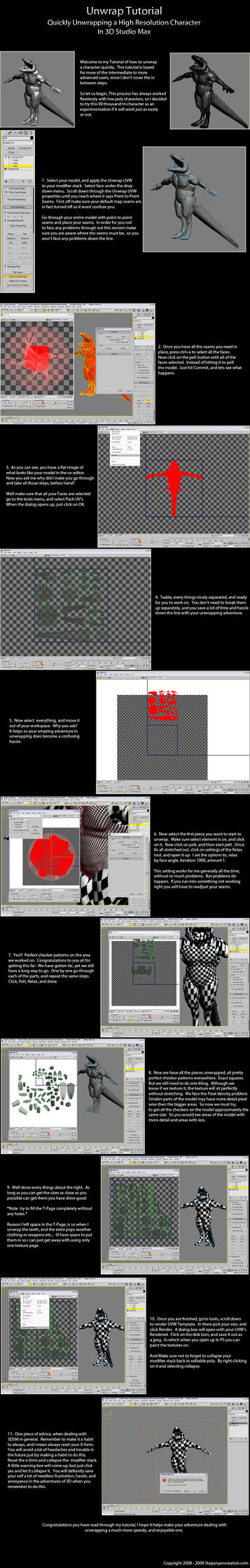 3DSM Speedy Unwrap Tutorial by 3D-Asuarus